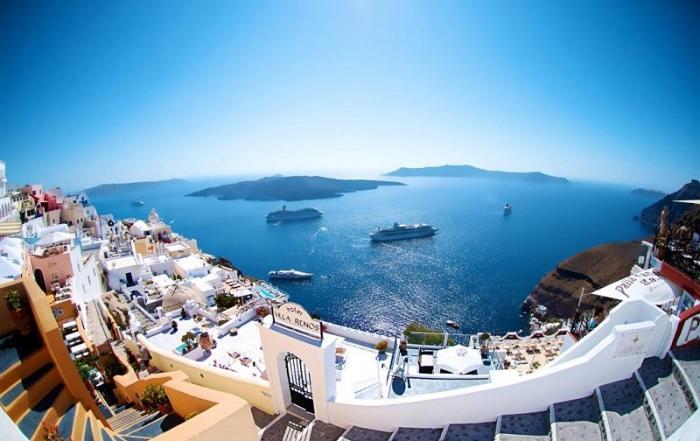 Amazing Greece view over Santorini