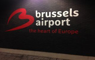 Brussels airport departure hall. The heart of Europe.