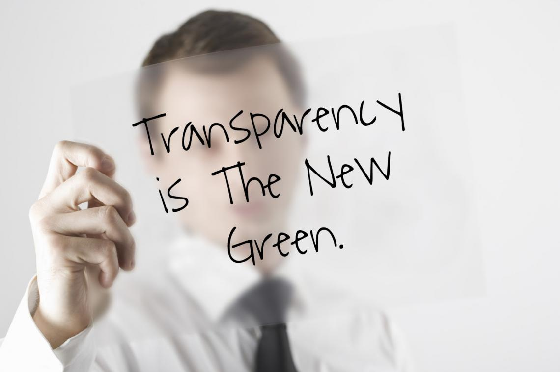 Transparency is the new green for taxes