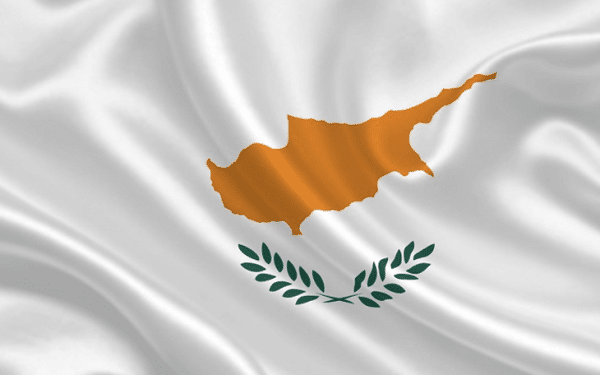 Cyprus golden passport visa and the flag of Cyprus