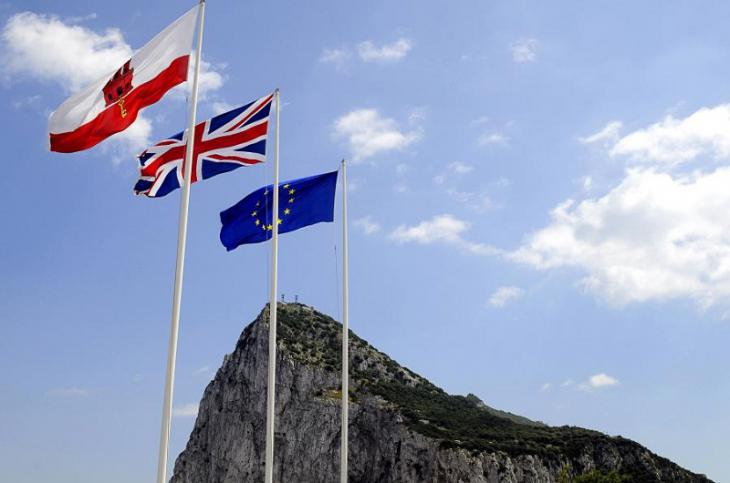 Gibraltar EU UK flags crypto