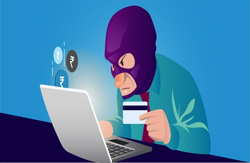 Identity theft of online banking details.