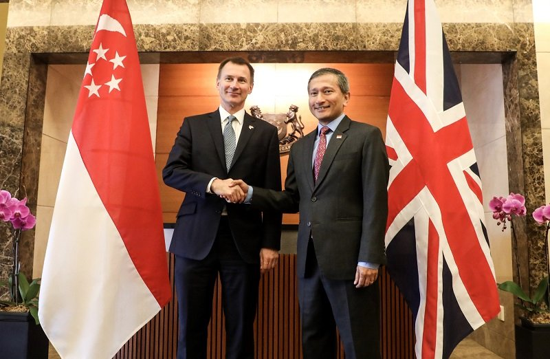 Meeting between UK and Singapore.