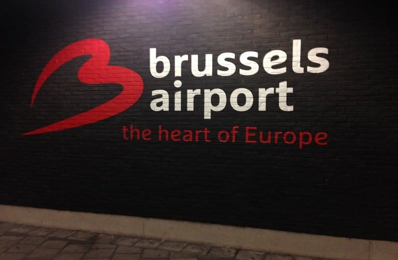Brussels airport departure hall for emigration from Belgium